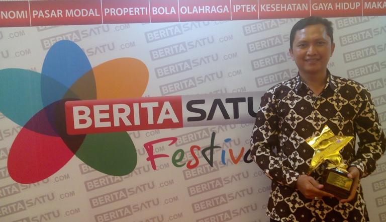 Kepala Desa Dermaji setelah penerimaan penghargaan Inspiring Young Leader Beritasatu